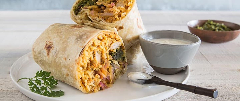 Chicken Tikka Masala Burrito