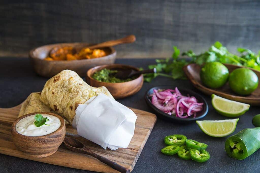 Lamb Curry Kati Roll