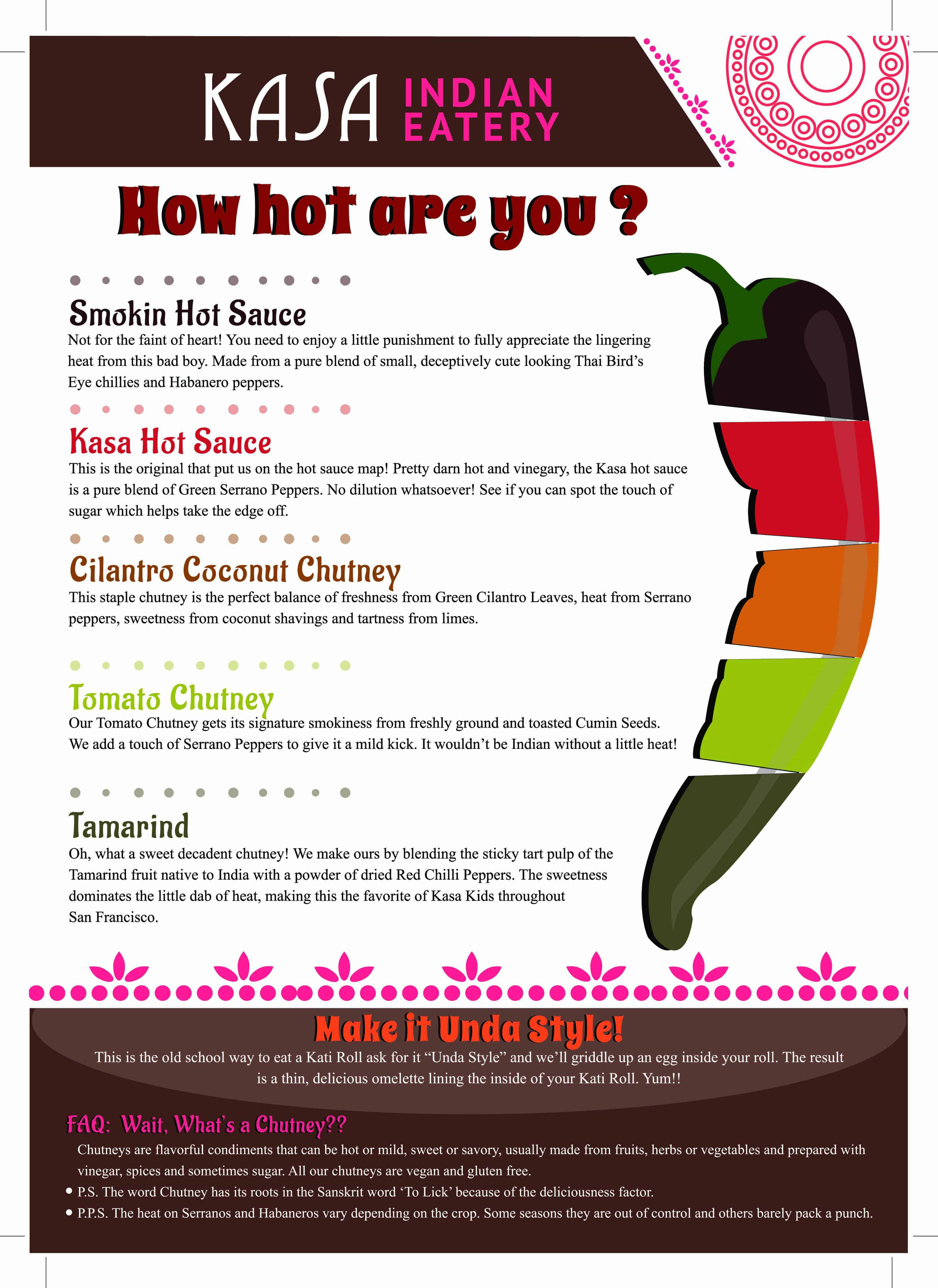 Kasa Indian Eatery - How Hot are you?