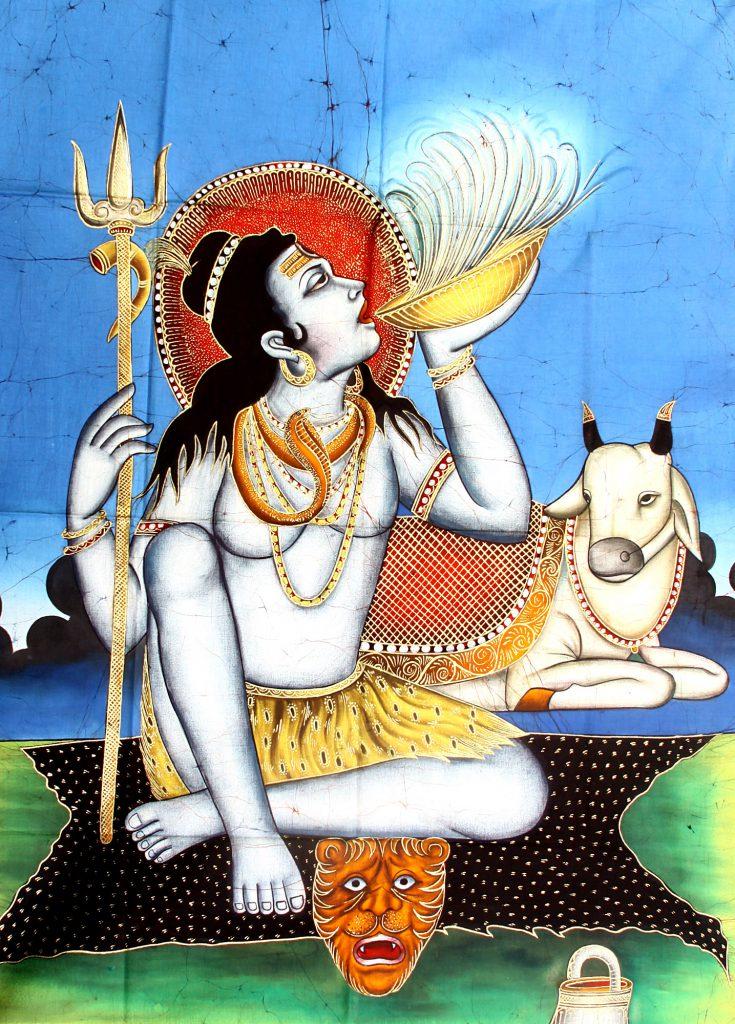 Shiva drinking Kasa bhang lassi