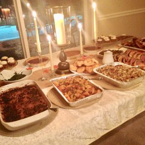 Kasa Thansgiving spread
